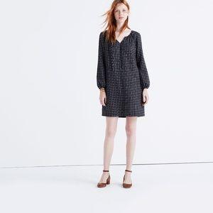 Madewell Black Signal Tunic Dress  Hayden Plaid M